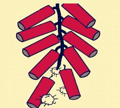 小孩放鞭炮简笔画 小朋友春节手抄报的必学技能